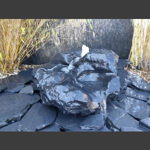 Bachlaufkaskaden Quellstein Set geschliffener Marmor schwarz-weiß