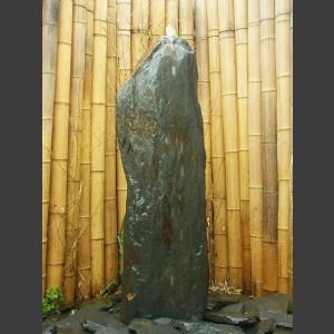 Schiefer Monolith Quellstein  graubraun 120cm
