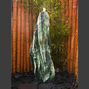 Komplettset Brunnen Spaltfelsen grüner Quarzit 120cm