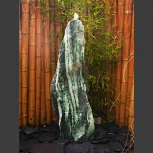 Atlantis Monolith Quellstein Spaltfelsen grüner Quarzit 120cm