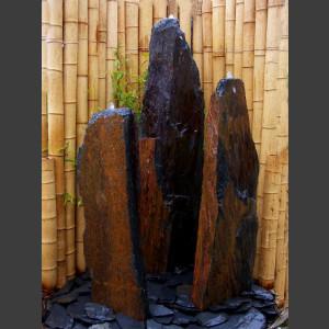 3 Quellstein Säulen grau-brauner Schiefer 150cm1