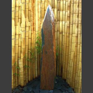 Schiefer Monolith Quellstein  graubraun 140cm1