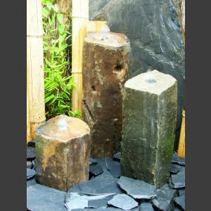 3 Basaltsäulen Quellsteine 50cm1