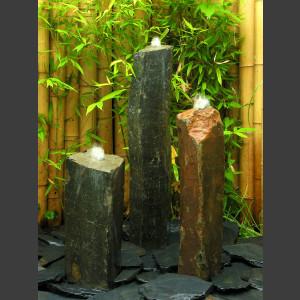 Basaltsäulen 3er Brunnenset 75cm1