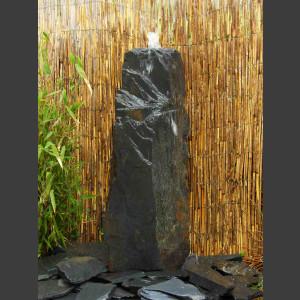 Schiefer Monolith 120cm grauschwarz