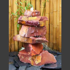 Kaskaden Quellstein Turm roter Sandstein 85cm