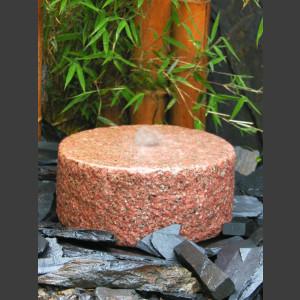 Mühlstein Quellstein roter Granit 30cm1