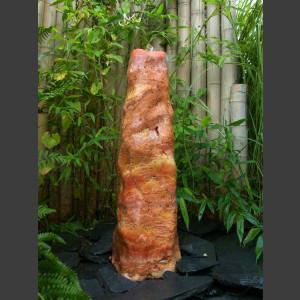Monolith Quellstein Travertin geschliffen 80cm1