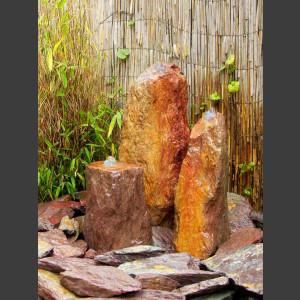 Triolithen Quellsteine rot-bunter Schiefer50cm
