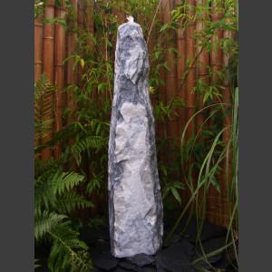 Marmor Brunnen weißgrau 120cm1