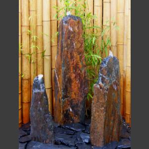 Triolithen Komplettset graubrauner Schiefer 95cm1