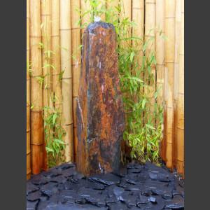 Schiefer Monolith 140cm graubraun