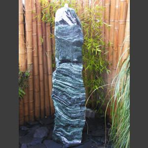 Brunnen Monolith Spaltfelsen grüner Quarzit 150cm 1