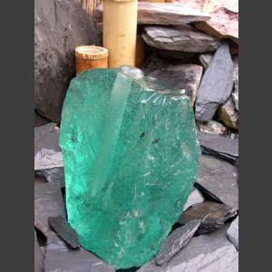 Brunnen grünes Glas 15cm