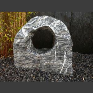 Showstone Skulptur grau-weiß 75cm