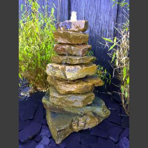 Kaskaden Komplettset Brunnen beiger Sandstein 85cm