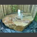 Sandstein Schaumsprudler Brunnenset mit Lampe