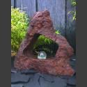 Lava Brunnen mit Durchbruch und drehender Glaskugel 10cm