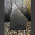 Denkmalstein schwarzer Schiefer 74cm hoch