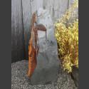Schiefer Monolith schwarz-bunt 124cm hoch