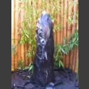 Quellstein Säule Marmor schwarz 100cm