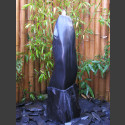 Quellstein Säule Marmor schwarz poliert 100cm