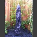 Quellstein Säule Marmor schwarz 120cm