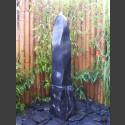Marmor Komplettset Brunnen schwarz poliert 120cm