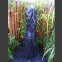 Quellstein Säule Marmor schwarz 150cm