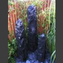 Trimeteori 3 Quellsteine schwarzer Marmor bruchrau 150cm