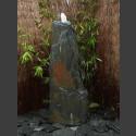 Schiefer Monolith Quellstein  grauschwarz 140cm hoch