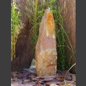 Schiefer Monolith Quellstein  rotbunt 200cm hoch