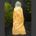 Onyx Monolith Brunnen mit drehender Glaskugel 15cm