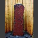 Schiefer Monolith Quellstein  rotschwarz 120cm hoch