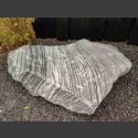 Marmor Solitärstein grau-weiß 38cm hoch