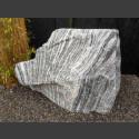Marmor Solitärstein grau-weiß 90cm hoch
