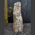 Zebra Gneis Naturstein Monolith 72cm hoch