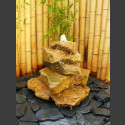 Kaskaden Komplettset Brunnen beiger Sandstein 5stufig