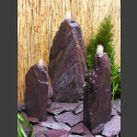 Triolithen Brunnen lila Schiefer 75cm