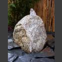 Findling Gartenbrunnen grauer Granit 22cm