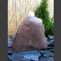 Findling Gartenbrunnen roter Granit 20cm