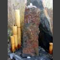 Schiefer Monolith Quellstein  rotschwarz 75cm hoch