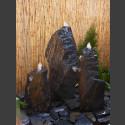 Triolithen Komplettbrunnen grauschwarzer Schiefer 75cm