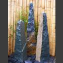 3  Quellstein Obelisken grüner Dolomit 150cm