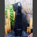 Quellstein Säule Marmor schwarz poliert 75cm