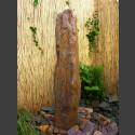 Schiefer Monolith Quellstein  rotbunt 175cm hoch