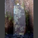 Schiefer Monolith Quellstein  lila 120cm hoch