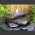 Kaskaden Komplettset Brunnen grau-schwarz 3stufig