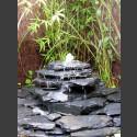 Kaskaden Komplettset Brunnen grau-schwarz 5stufig