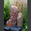 Triolithen Komplettbrunnen rotbunter Schiefer 50cm